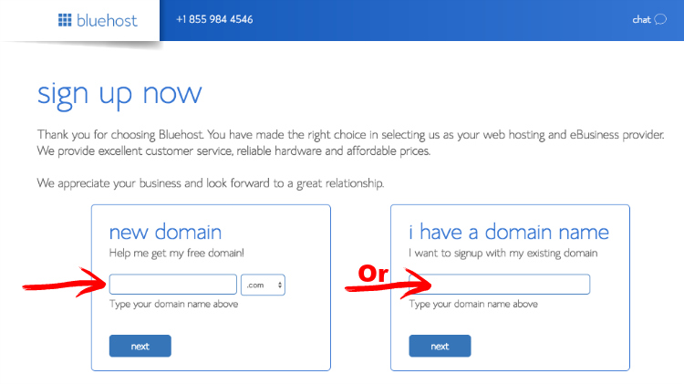 bluehost screenshot 2