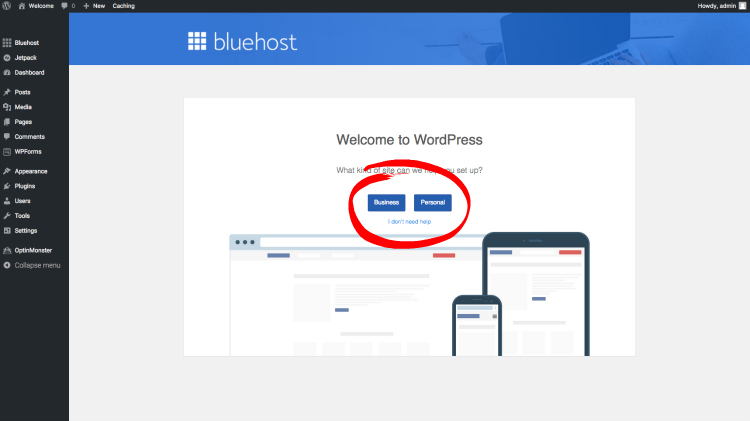 start a blog bluehost screenshot 7
