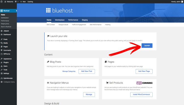 start a blog bluehost screenshot 8