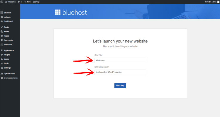 start a blog bluehost screenshot 9