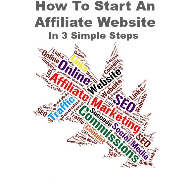 how to start an affiliate website wordcloud image